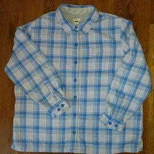 L.L. Bean fleeced lined flannel shirt